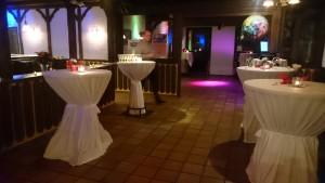 Clubhaus NullZwo hergerichtet für Feierlichkeiten